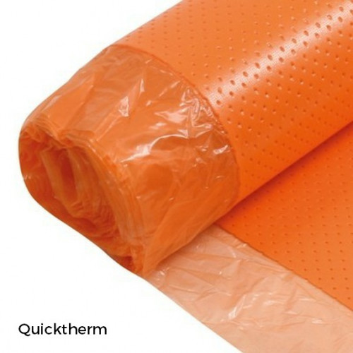 1 Roll: Quicktherm Vapour - 2mm Underlay - Orange - Roll Size 1m x 10m x 2mm - (10m²/Roll)