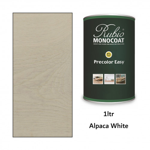 1ltr: Rubio Monocoat - Precolor Easy - Alpacha White