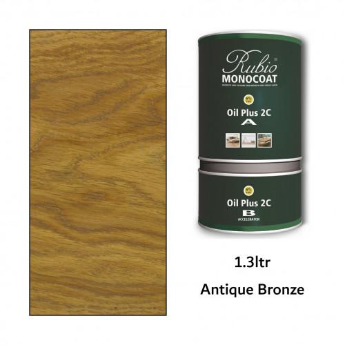 1.3ltr: Rubio Monocoat - Oil Plus 2C - (Part A and B) - Antique Bronze