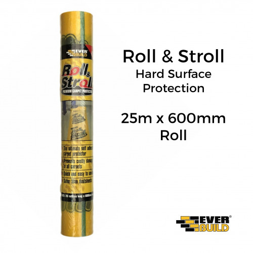 25m Roll: Everbuild - Roll & Stroll - Carpet Protector