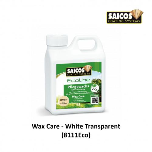 1ltr: Saicos - Ecoline WaxCare - White Transparent