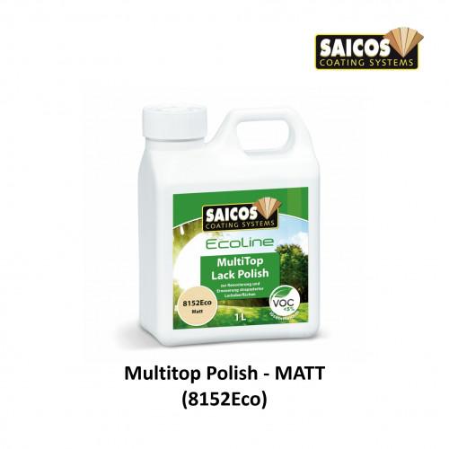 1ltr: Saicos - Ecoline MultiTop Polish - Matt - For Lacquered Surfaces (8152Eco)