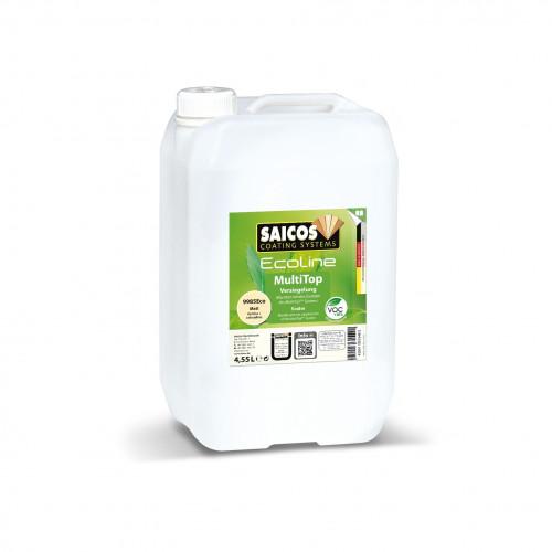 4.55ltr: Saicos - Ecoline MultiTop Plus - 1K Water Based Lacquer - Matt - (9985Eco)