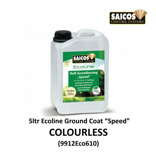 5ltr: Saicos - Ecoline Ground Coat Speed - Colourless 1K Water Based Primer - (9912Eco610)