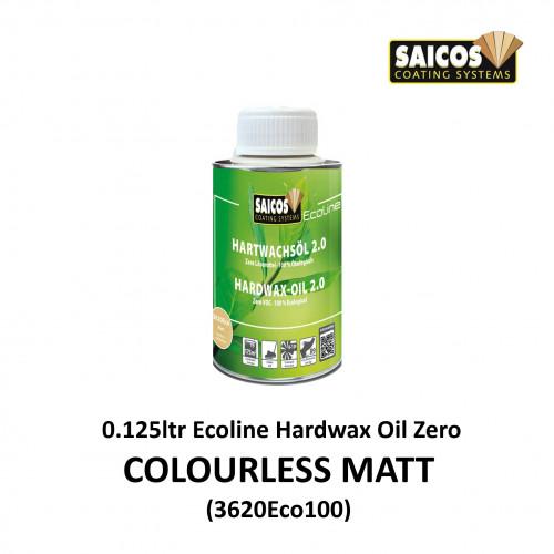 0.125ltr: Saicos - Ecoline - Hardwax Oil Zero - Colourless Matt Transparent - (3620ECO100)