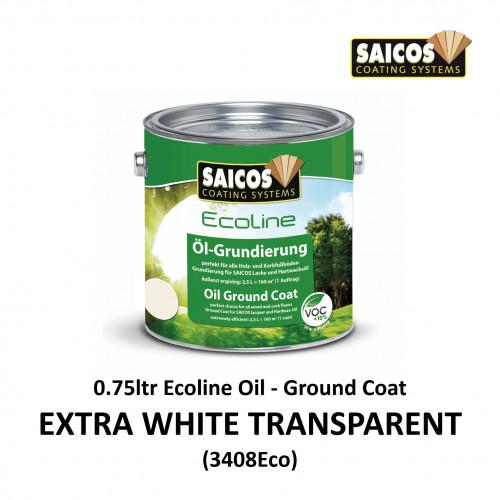 0.75ltr: Saicos - Ecoline Oil - Ground Coat - Extra White Transparent - (3408ECO300)