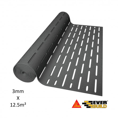 1 Roll: Sika - Silent Layer Mat 03 - 3mm Thick x 12.5m² Roll - (12.5m x 1.m = 12.5m²)
