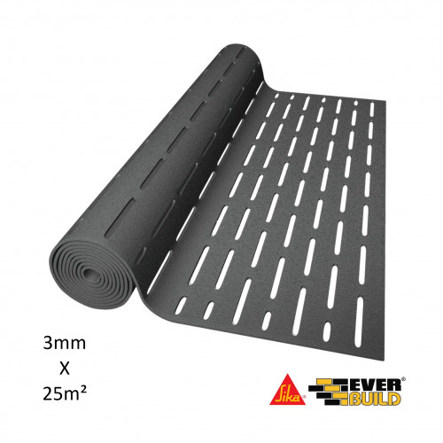 1 Roll: Sika - Silent Layer Mat 03 - 3mm Thick x 25m² Roll (16.66m x 1.5m = 25m²)