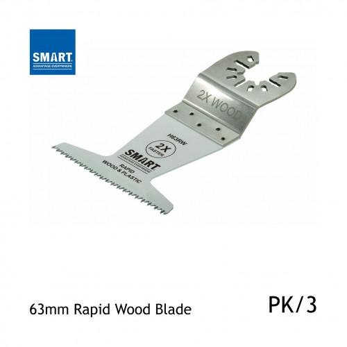 1pk: Smart Blade - 63mm - Wood Series Rapid Wood & Plastic - (3/pk)