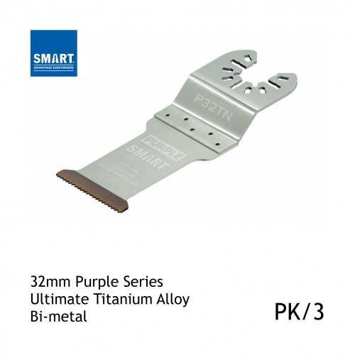 1pk: Smart Blade - 32mm - Purple Series Titanium Alloy Long Life Wood & Nails - (3/pk)
