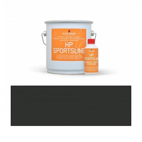 2.3ltr: Junckers - HP Sportsline Paint -Black - 2K Water Based Polyurethane - Indoor Court Line Marking Paint - including 0.2ltr hardener