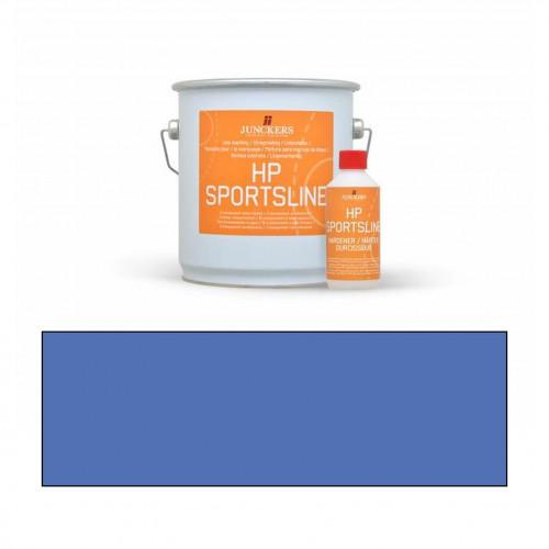 2.3ltr: Junckers - HP Sportsline Paint - Blue - 2K Water Based Polyurethane - Indoor Court Line Marking Paint - including 0.2ltr hardener