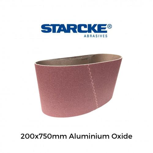 "P100 - Starcke - Aluminium Oxide - Cloth Backed Sanding Belt - 200x750mm - 8"""