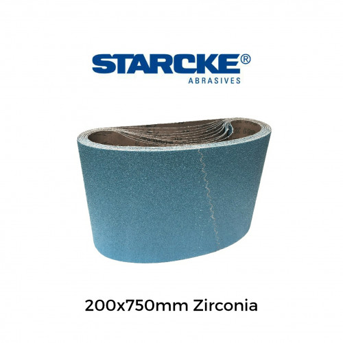 Starcke - 200mm x 750mm Zirconia Sanding Belts