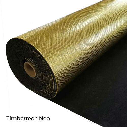 1 Roll: Timbertech - Neo Acoustic - 5mm Natural Rubber Underlay - 1m x 8m x 5mm - (8m²/Roll)
