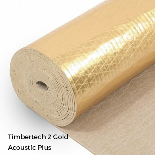 1 Roll: Timbertech2 - Acoustic Plus - 5mm Natural Rubber Underlay - 1m x 8m x 5mm - (8m²/Roll)