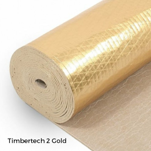 1 Roll: Timbertech2 Gold - 3.3mm Contract Rubber Underlay - 1m x 10m x 3.3mm - (10m²/Roll)