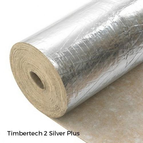 1 Roll: Timbertech2 Silver Plus - 3mm Natural Rubber & Vapour Barrier - Beige End - 1m x 10m x 3mm - (10m²/Roll)
