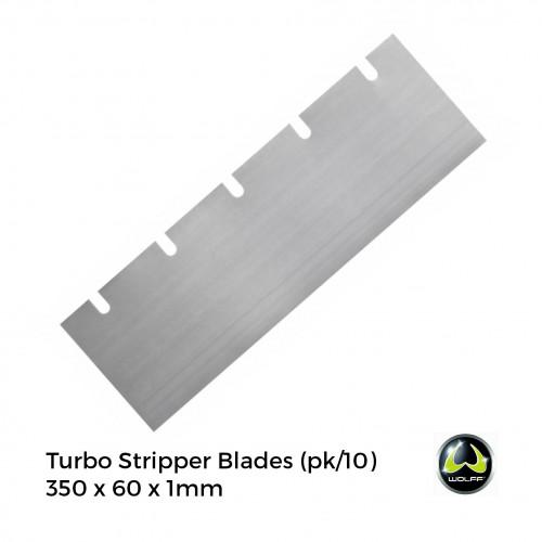 1pk: Wolff - Turbo Stripper - Spare Blades - 350x60x1mm - (10/pk)