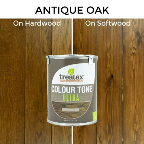 1ltr: Treatex - Colour Tone Ultra - Antique Oak - (184e)