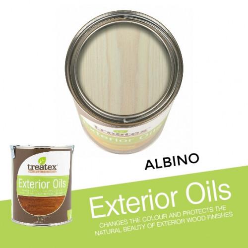 1ltr: Treatex - Exterior Oil - Albino - (3161e)