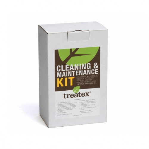 Treatex - Cleaning & Maintenance Kit - Contains: 1ltr: Floor Care & 0.5ltr: Wax Polish & 1 x Scotch Pad