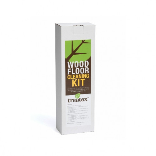 Treatex - Wood Floor Cleaning Kit - Contains: 1 x Micro Fibre Cloth & Handle & Spray on Cleaner