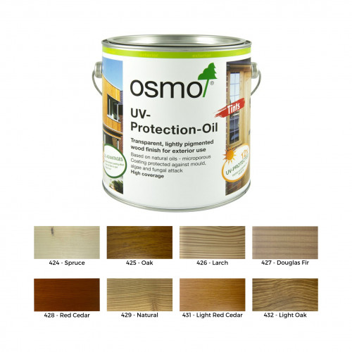 2.5ltr: Osmo - UV Protection Oil - Tints - with active ingredients - Oak Transparent - (425D)