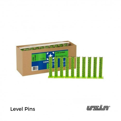 1 Bag: Uzin - Levelpin - Self Adhesive Height Marker for Levelling Compound - (20/Bag)