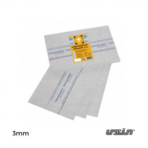 1pk: Uzin - Multimoll SoftSonic EC1 - 3mm Underlay - 75 x 50cm - (6m²/pk = 16 boards/pk)