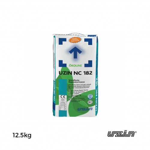 12.5kg Bag: Uzin - NC182 - Rapid Repair Mortar - Low Slump Smoothing Compound