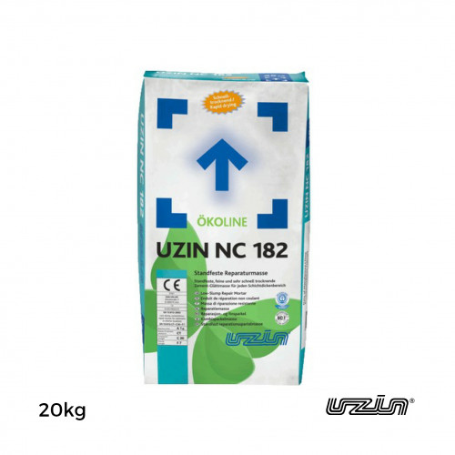 25kg Bag: Uzin - NC182 - Rapid Repair Mortar - Low Slump Smoothing Compound