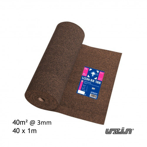 40m² Roll: Uzin - RR188 - 3mm Insulating Underlay - (40 x 1m)