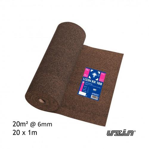 20m² Roll: Uzin - RR188 - 6mm Insulating Underlay - (20 x 1m)