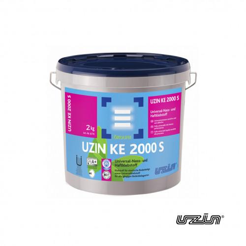 2kg Tub: Uzin - KE2000s - Pressure Sensitive Adhesive for Vinyl, LVTs and Rubber