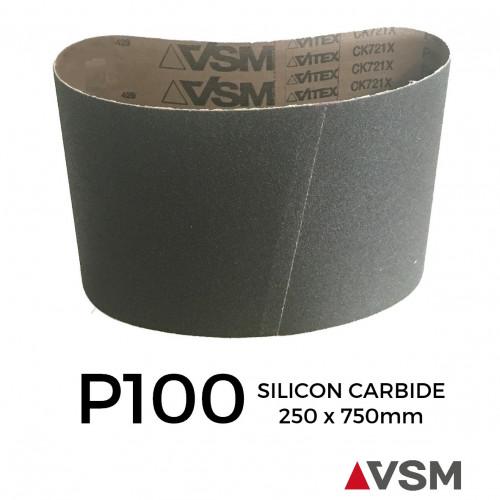 "P100 - VSM - Silicon Carbide - Sanding Belt - 250x750mm - 10"""