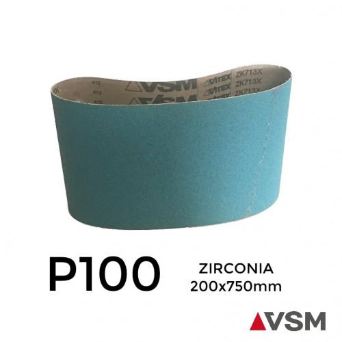 """P100 - VSM - Zirconia - Sanding Belt - 200x750mm - 8"""""""