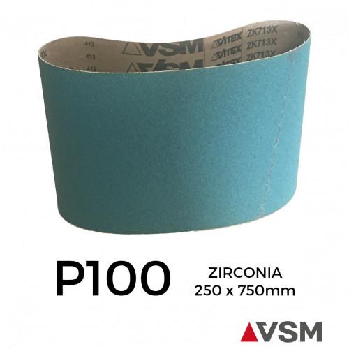 """P100 - VSM - Zirconia - Sanding Belt - 250x750mm - 10"""""""
