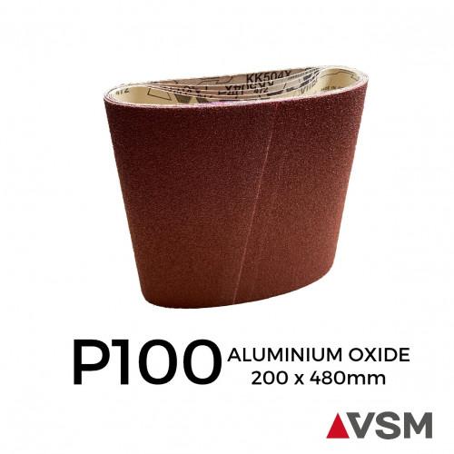 """P100 - VSM - Aluminium Oxide - Sanding Belt - 200x480mm - 3.15"""" - 8"""""""