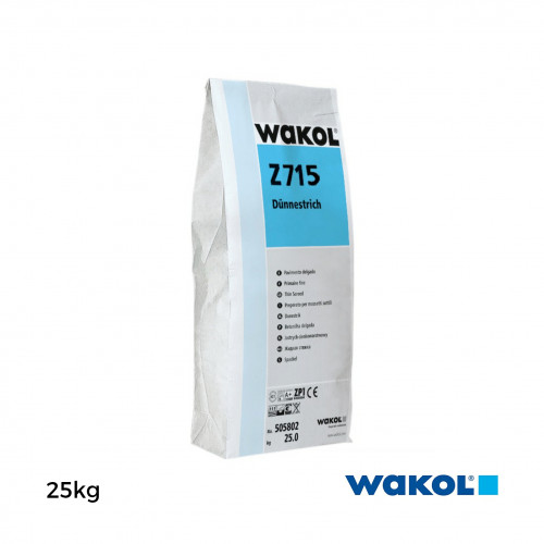 25kg Bag: Wakol - Z715 - Wakol Z715 -Quick Setting Levelling Compound - suitable for treating uneveness in layer thickness of 1 to 10 mm, extended to 25 mm indoors.
