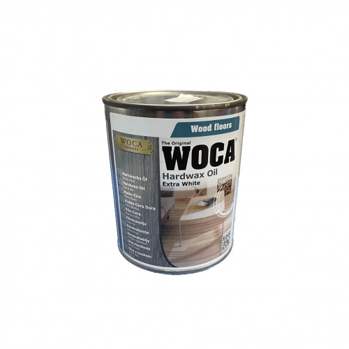 0.75ltr: WOCA - Hardwax Oil - Extra White