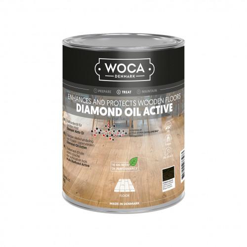 1ltr: WOCA - Diamond Oil Active - Carbon Black
