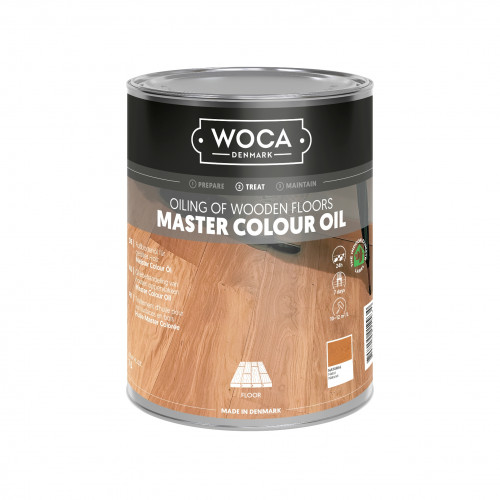 1ltr: WOCA - Master Colour Oil - Natural - Quick Hardening Oil - For Manual or Machine Application