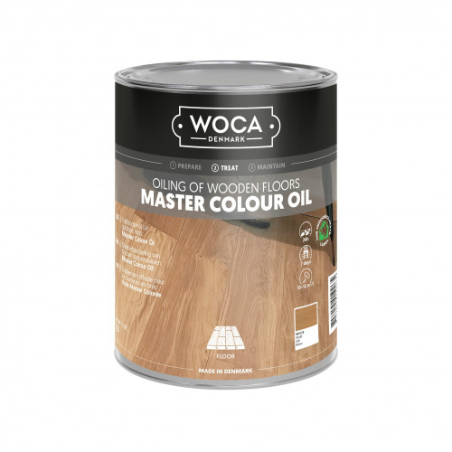 1ltr: WOCA - Master Colour Oil - White - Quick Hardening Oil - For Manual or Machine Application