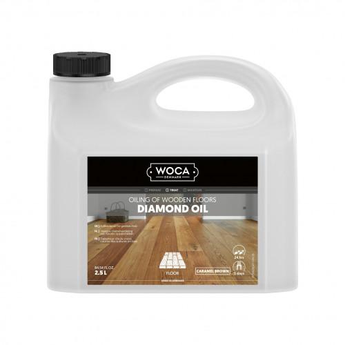2.5ltr: WOCA - Diamond Oil - Caramel Brown
