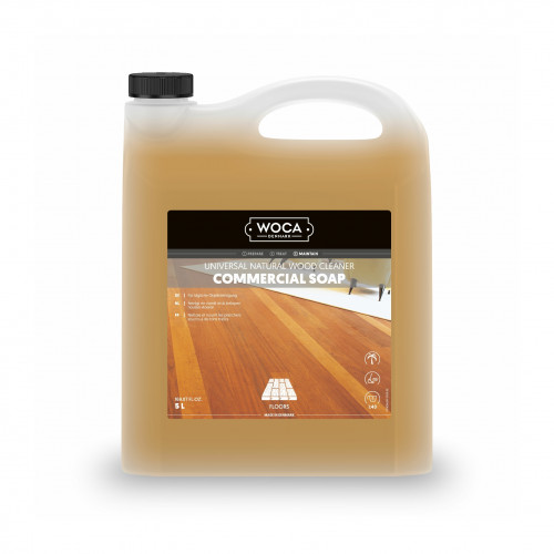 5ltr: WOCA - Commercial Soap - Natural - Strong Cleaning Soap for Commercial Areas - Can be applied with polishing machine