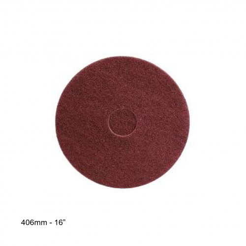 """WOCA - P320 - Surface Preparation Pad - Bordeaux - 16"""" - 406mm"""