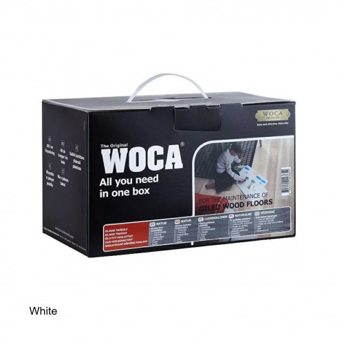 WOCA - Maintenance Box Kit - White - Complete with Maintenance Oil