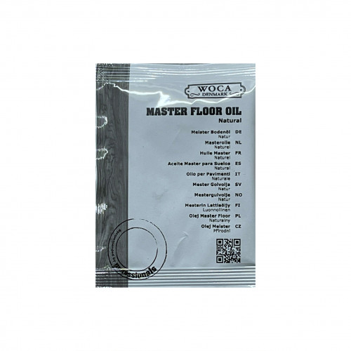 25ml: WOCA - Master Oil - Natural - Quick Hardening Oil - For Manual or Machine Application