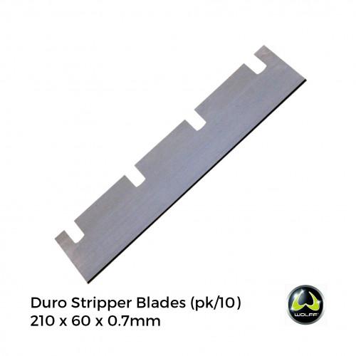 1pk: Wolff - Duro Stripper - Spare Blades For Carpet - 210x60x0.7mm - (10/pk)